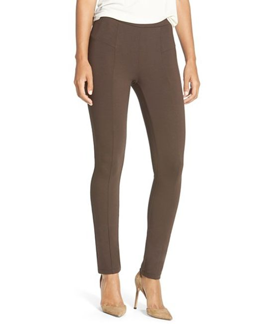 NIC+ZOE | Brown 'the Perfect Ponte' Pants | Lyst