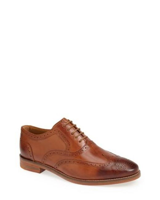 Cole Haan | Brown 'cambridge' Wingtip for Men | Lyst