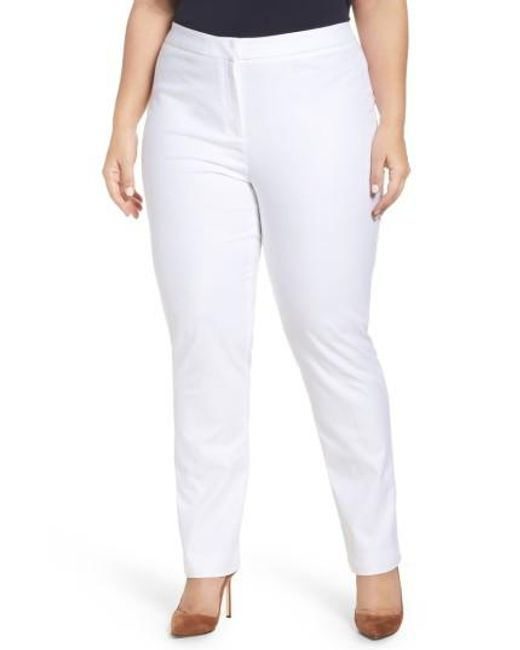 NIC+ZOE | White 'the Perfect' Pants | Lyst