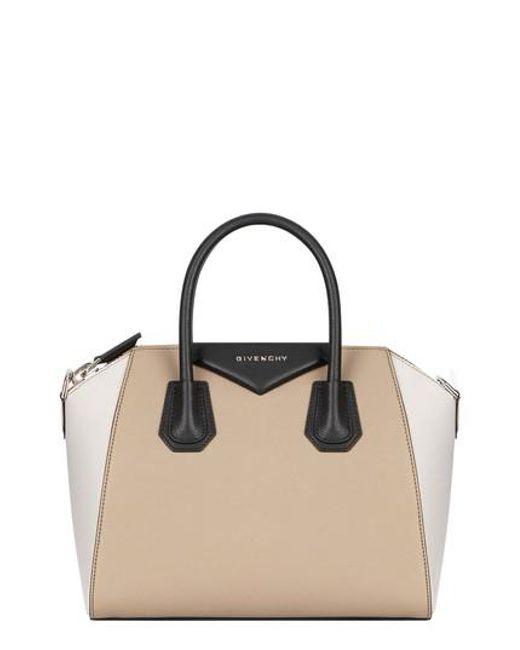 Givenchy Black Small Antigona Tricolor Sugar Leather Satchel Lyst