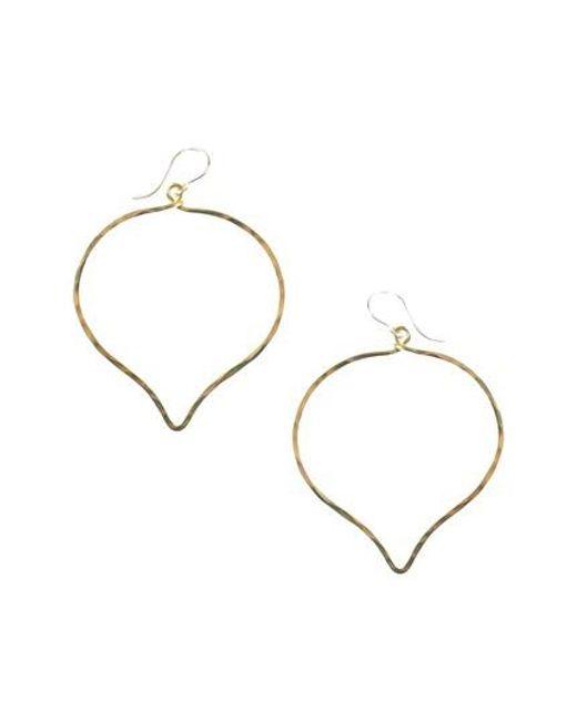 Nashelle   Metallic Ija 'large' Faceted Lotus Hoop Earrings   Lyst