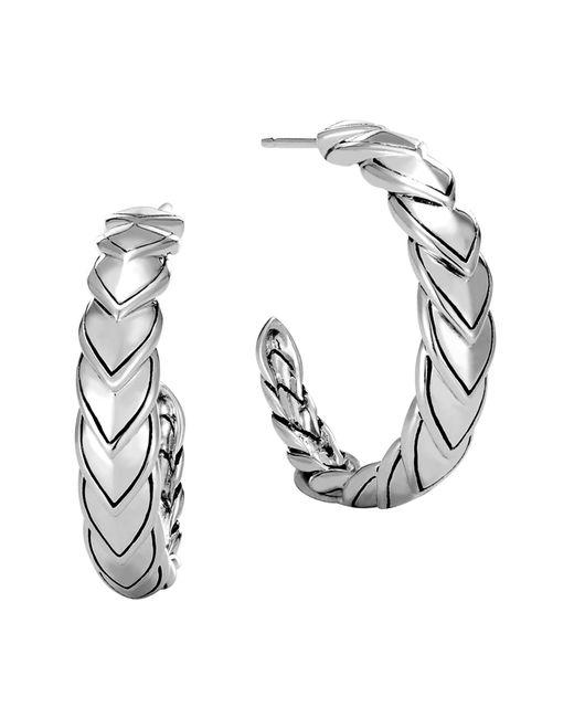 John Hardy - Metallic Legends Naga Small Hoop Earrings - Lyst