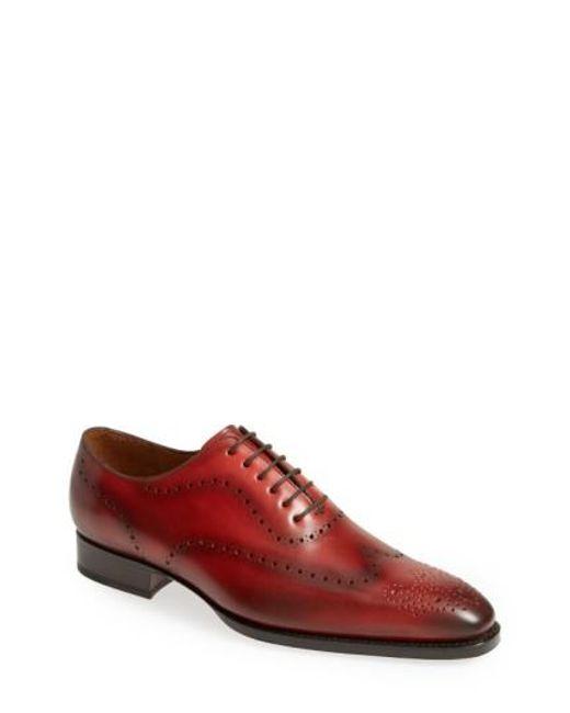 Sendra | Red 'westport' Wingtip Oxford for Men | Lyst