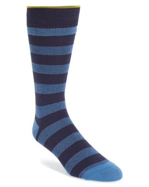 Cole Haan - Blue Skater Stripe Socks - Lyst