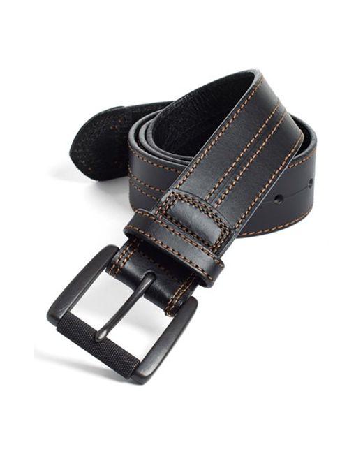 Johnston & Murphy   Black Leather Belt for Men   Lyst