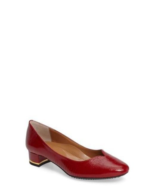 J. Reneé | Red Bambal Block Heel Pumps | Lyst