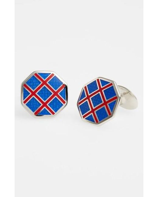 David Donahue | Blue Octagon Cuff Links for Men | Lyst