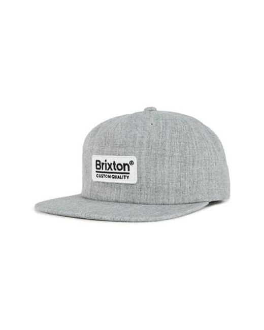 eb5b3855fb6e5 Lyst - Brixton Palmer Mp Snapback Baseball Cap in Gray for Men