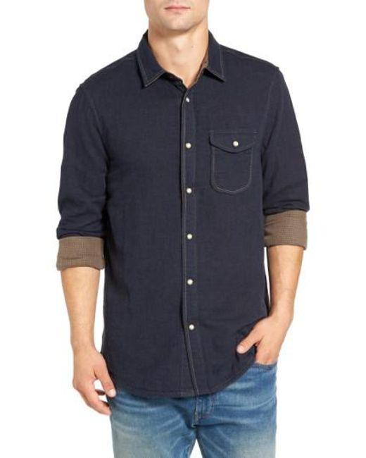 Jeremiah | Blue Chase Melange Sport Shirt for Men | Lyst