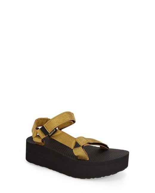 Teva | Metallic 'universal' Flatform Sandal | Lyst