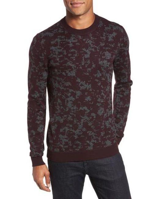 Ted Baker | Red Gelato Jacquard Sweater for Men | Lyst