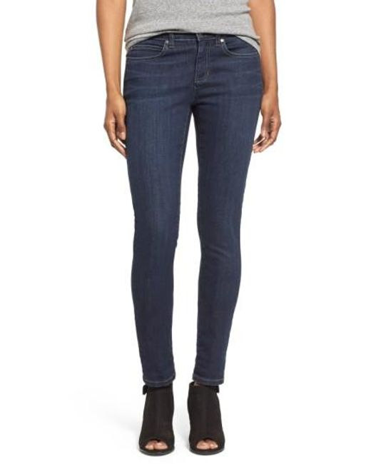 Eileen Fisher | Blue Stretch Skinny Jeans | Lyst