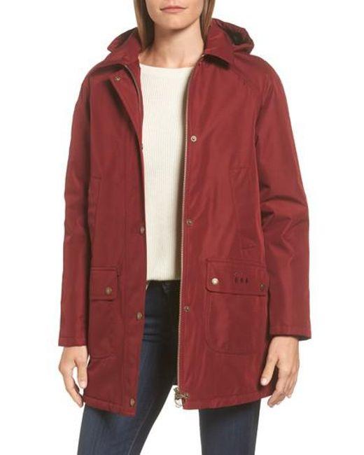 Barbour | Red Whirl Waterproof Hooded Jacket | Lyst