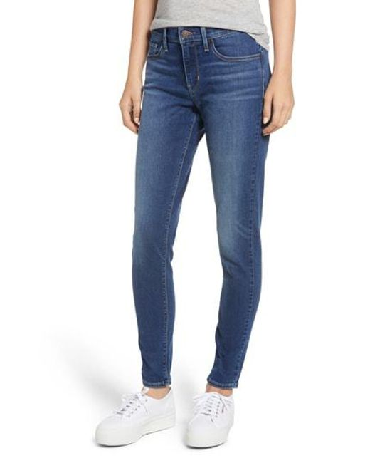 Levi's - Blue Levi's Curvy Skinny Jeans - Lyst