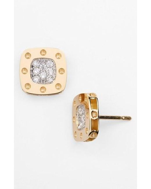 Roberto Coin | Yellow 'pois Moi' Diamond Stud Earrings | Lyst