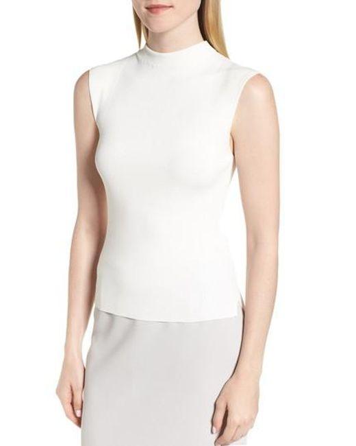 BOSS - White Fasmine Knit Shell - Lyst