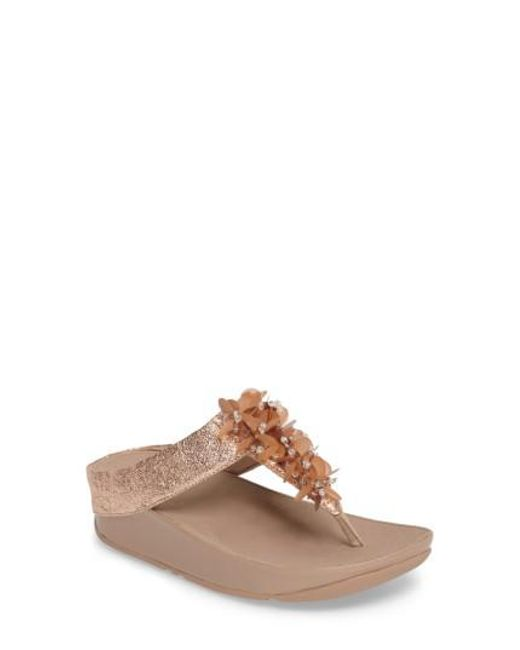 Fitflop | Brown Boogaloo Sandal | Lyst
