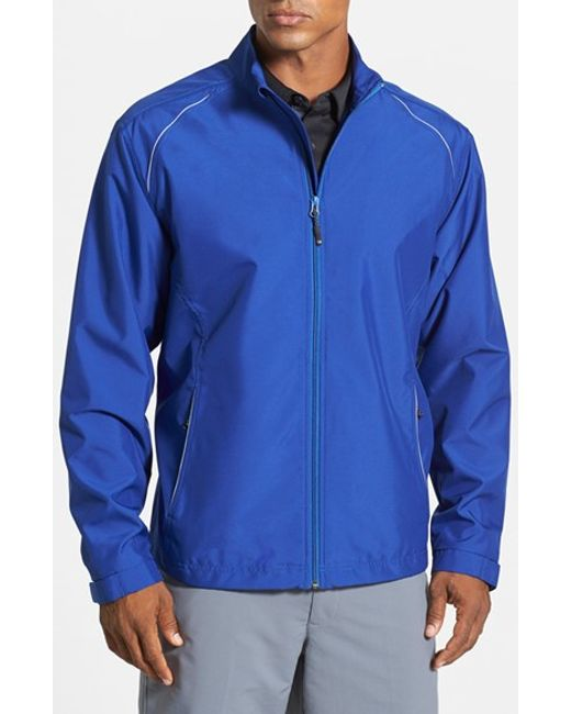 Cutter & Buck | Blue 'beacon' Weathertec Wind & Water Resistant Jacket for Men | Lyst