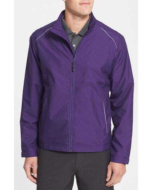 Cutter & Buck | Purple 'beacon' Weathertec Wind & Water Resistant Jacket for Men | Lyst
