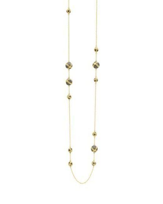 Freida Rothman | Metallic Textured Ornaments Station Necklace | Lyst