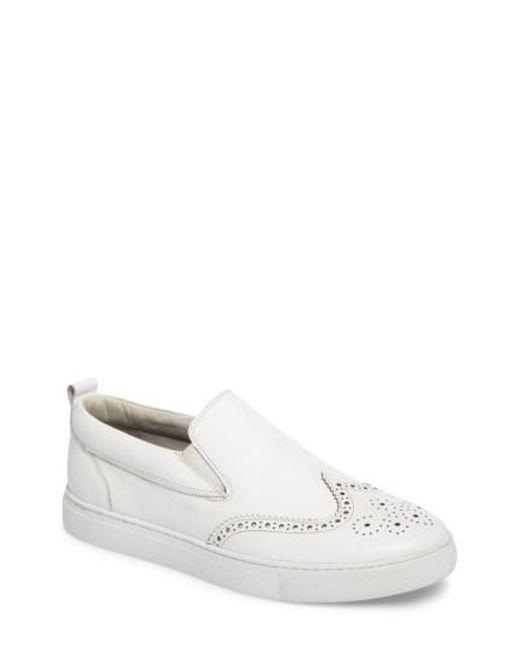 Zanzara | White Ali Wingtip Slip-on Sneaker | Lyst
