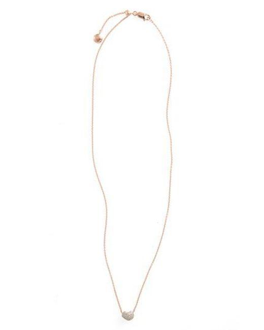 Monica Vinader - Metallic Pave Diamond Pendant Necklace - Lyst