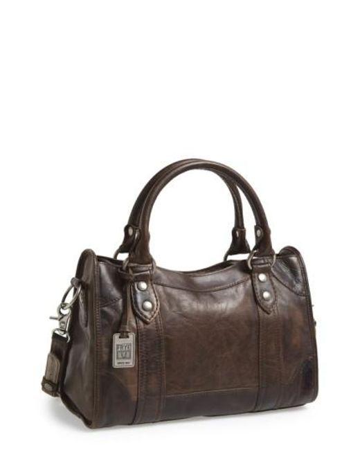 Frye | Gray 'Melissa' Washed Leather Satchel | Lyst