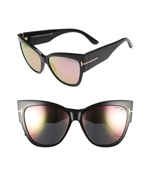 tom ford anoushka 57mm gradient cat eye sunglasses in black lyst. Cars Review. Best American Auto & Cars Review