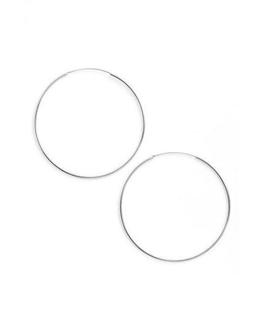 Argento Vivo - Metallic Endless Extra Large Hoop Earrings - Lyst