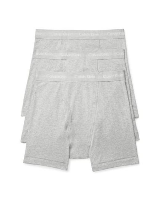 Calvin Klein | Gray 3-pack Boxer Briefs, Grey for Men | Lyst