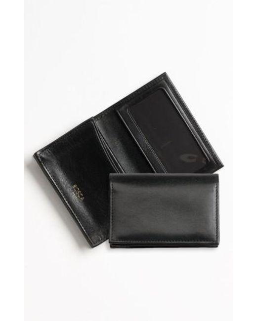 Bosca - Black 'old Leather' Gusset Wallet for Men - Lyst