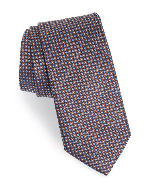 Eton of Sweden - Blue Geometric Silk Tie for Men - Lyst