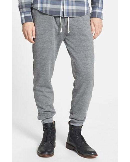 Alternative Apparel | Gray 'dodgeball' Eco Fleece Sweatpants for Men | Lyst