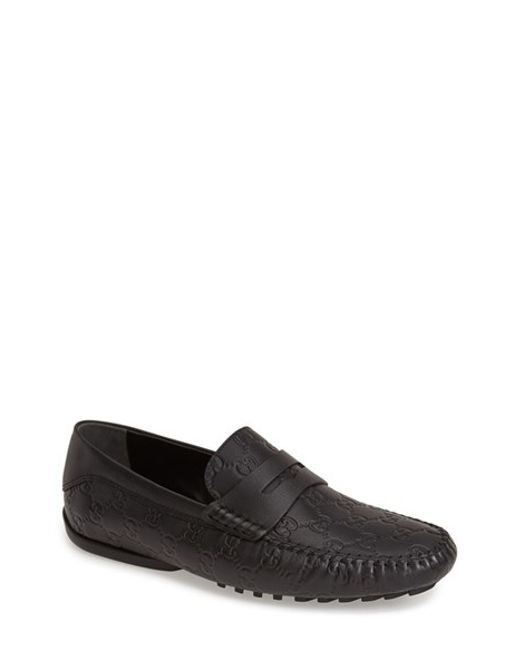 Gucci | Black San Marino Driving Shoe for Men | Lyst