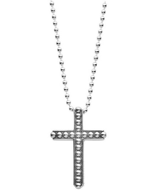 Lagos | Metallic Signature Caviar Cross Pendant Necklace | Lyst