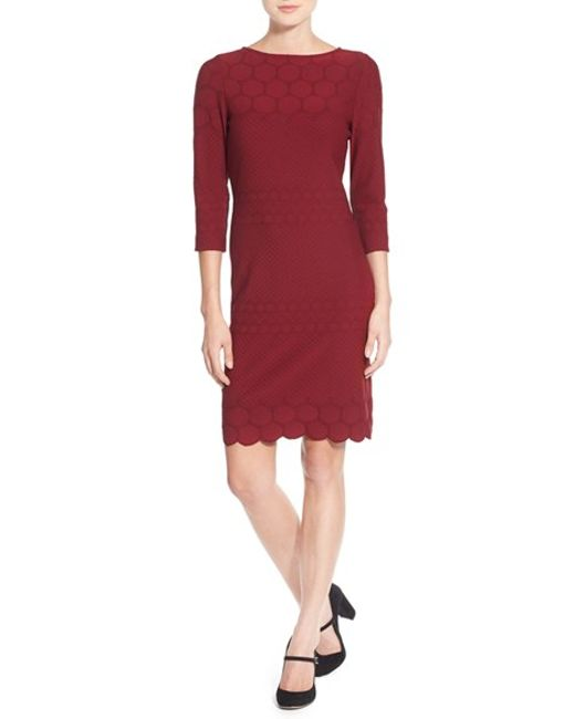 Julia Jordan | Blue Eyelet Sheath Dress | Lyst
