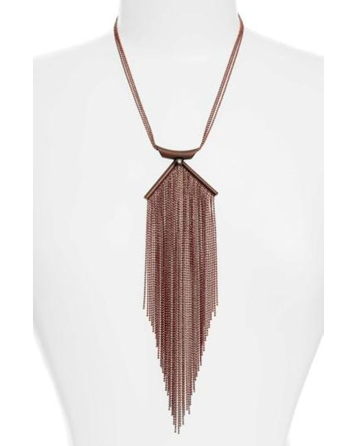 Karine Sultan | Multicolor Lina Waterfall Necklace | Lyst