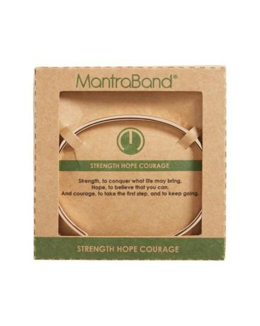 Mantraband - Metallic Strength Hope Courage Engraved Cuff - Lyst