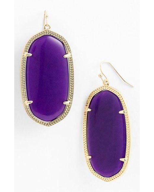 Kendra Scott | Metallic 'danielle - Large' Oval Statement Earrings | Lyst