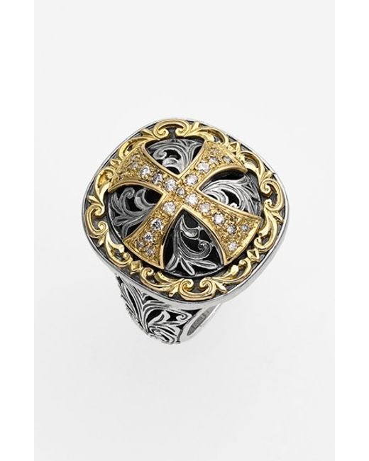 Konstantino | Metallic 'diamond Classics' Diamond Cross Two-tone Ring | Lyst