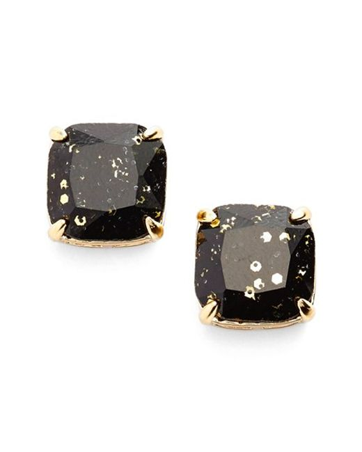 Kate Spade | Black Glitter Stud Earrings | Lyst