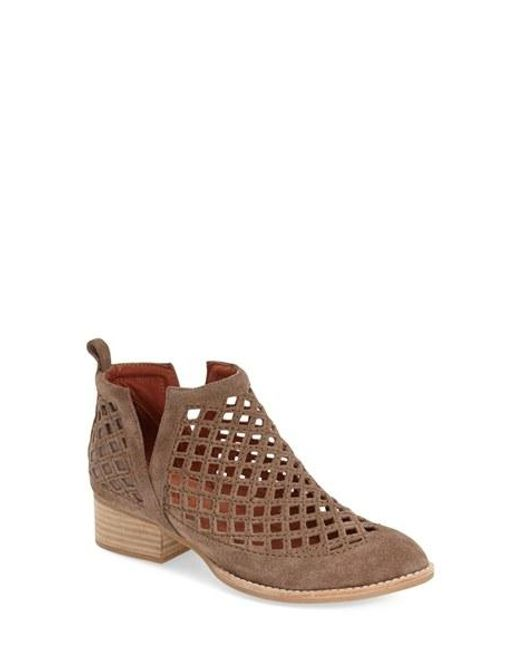 Jeffrey Campbell | Brown 'taggart' Cutout Bootie | Lyst