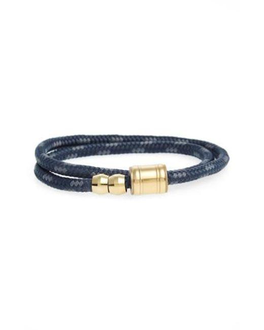 Miansai   Black Double Wrap Rope Bracelet for Men   Lyst