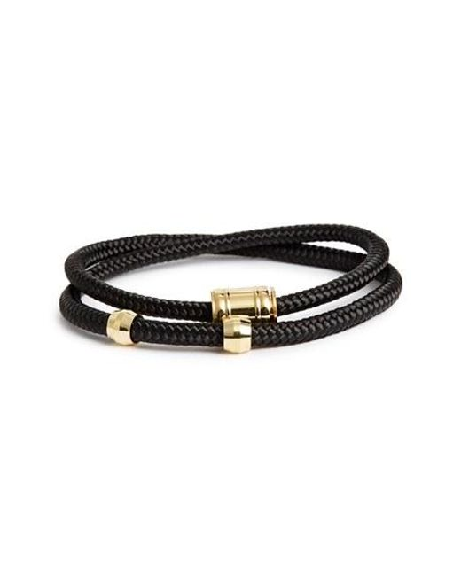 Miansai | Black Double Wrap Rope Bracelet for Men | Lyst