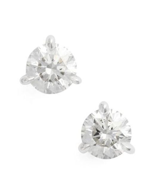 Kwiat - Blue 1.50ct Tw Diamond & Platinum Stud Earrings - Lyst