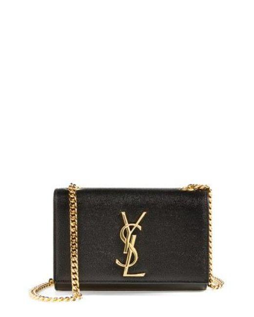Saint Laurent - Black Small Kate Chain Crossbody Bag - - Lyst