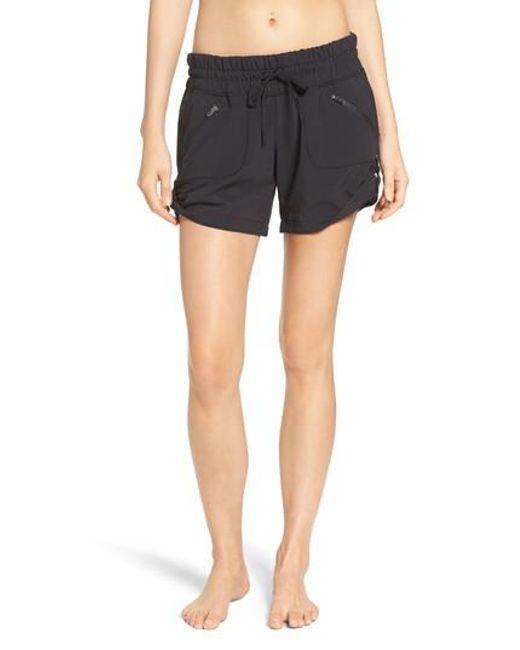 Zella - Black Switchback Shorts - Lyst