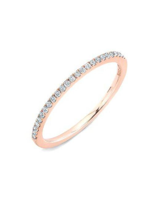 Bony Levy - Metallic 'stackable' Straight Diamond Band Ring (nordstrom Exclusive) - Lyst