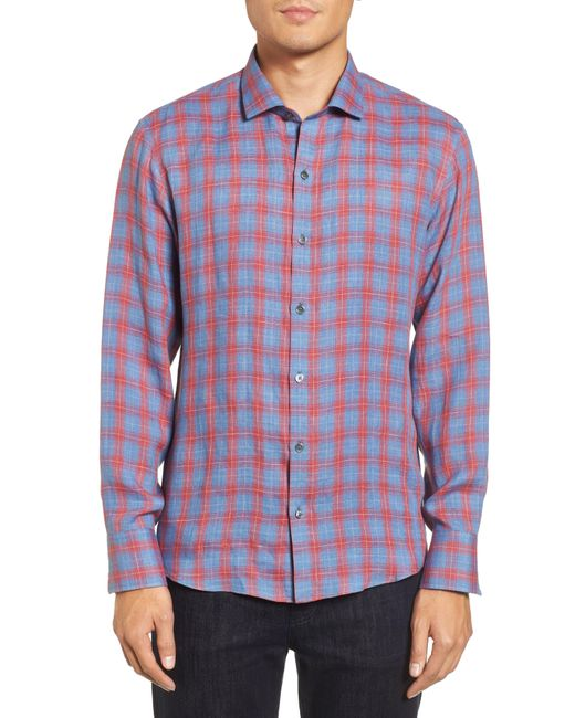 Zachary Prell - Blue Liam Plaid Woven Sport Shirt for Men - Lyst