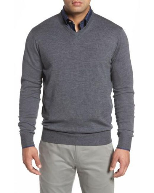 Peter Millar   Gray Merino Sweater for Men   Lyst